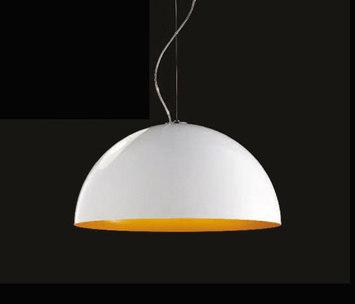 lampa do jadalni: biało-żółta Anke firmy Lucente